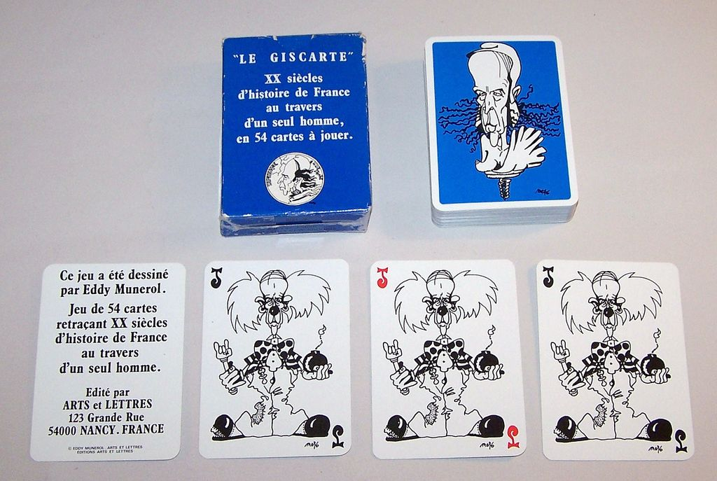 "Editions Arts Et Lettres (Grimaud) ""Le Giscarte"" Playing Cards, Eddy Munerol Designs, c.1986"