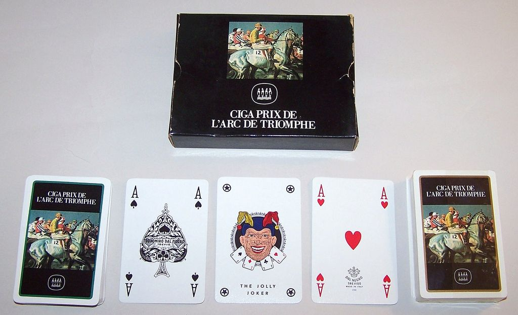 "Double Deck Dal Negro ""Prix de L'Arc de Triomphe"" Playing Cards, c.1990"