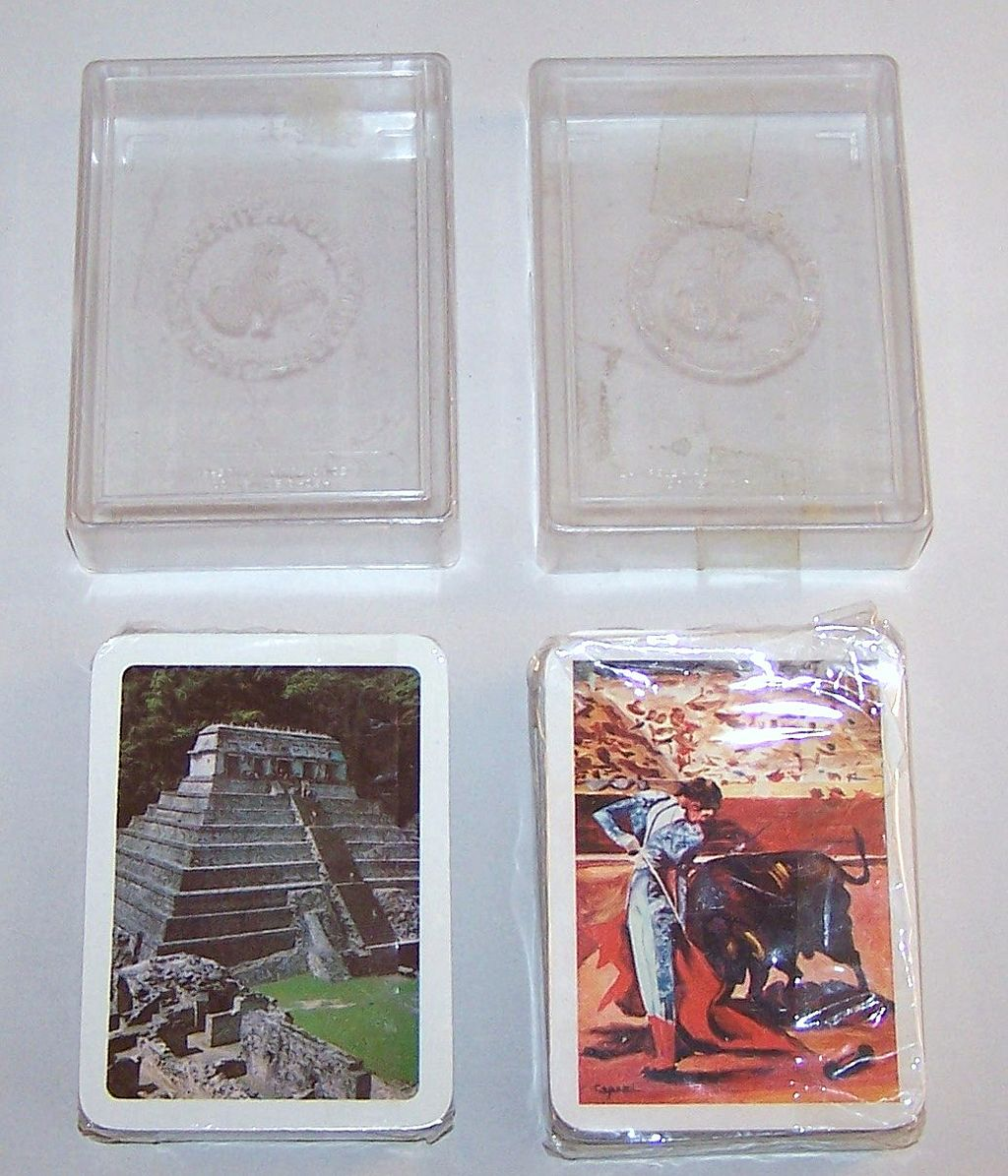2 Decks Clemente Jacques Playing Cards: (i) Bullfighting; (ii) Palenque Mayan Ruins