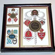 "Arrco ""European Wine/Beer Label"" Bridge Set"