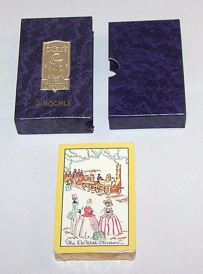 "Gibson Playing Card Co. ""Diana"" Pinochle Cards, ""The DeWitt Clinton,"" c.1931"