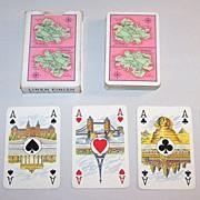 "Coeur ""Antigua"" Playing Cards, ""Internationales Kartenbild"" w/ Scenic Aces, c.1950"