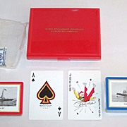 "Double Deck Brown & Bigelow ""Tug 'John Roen IV'"" Maritime Playing Cards, Roen Steamship Company, c.1947"