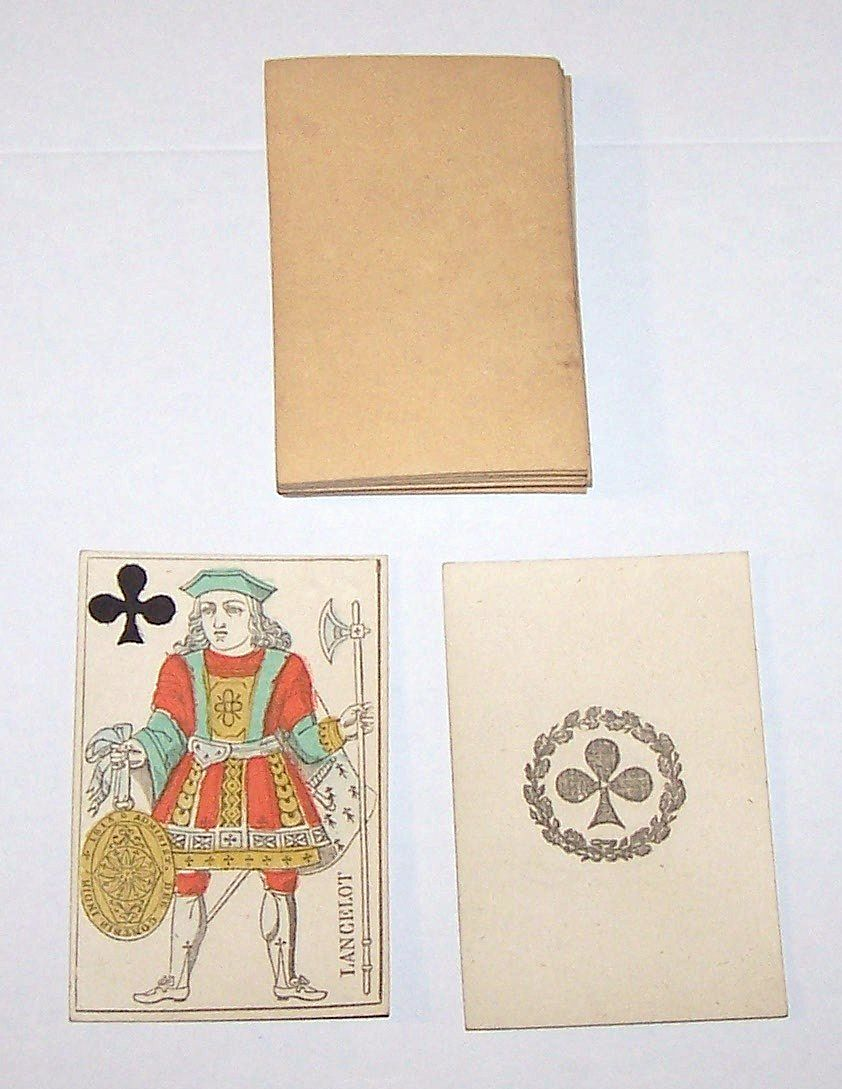 French Piquet Playing Cards, Hand Colored, Single Ended, c.1816-1827 (1816 Gatteaux)
