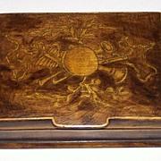 Victorian Penwork Card Box, c.1900