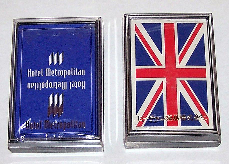 2 Decks Nintendo Advertising Playing Cards: (i) Hotel Metropolitan; (ii) SmithKline Beecham, c.1980s