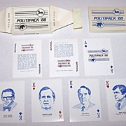 "R. Billingsley ""Politipack '88"" Playing Cards, Donald Trump 6 Clubs (!), c.1988"
