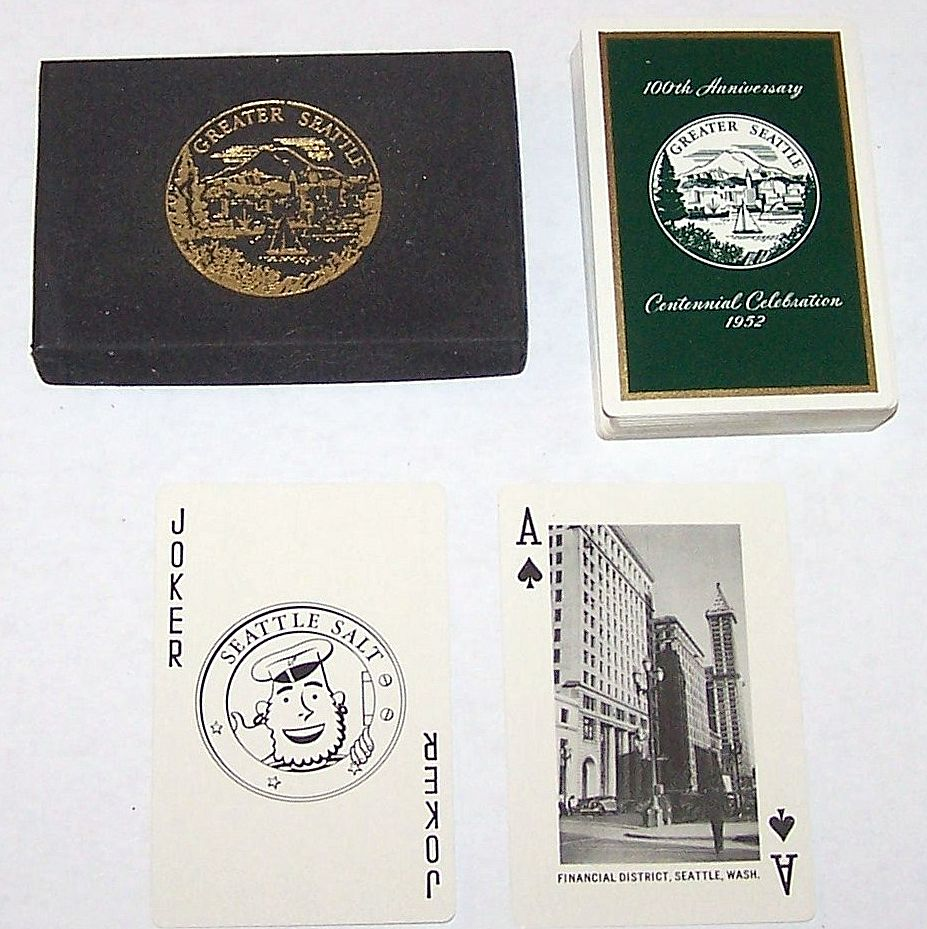 "Brown & Bigelow ""Seattle Centennial"" Playing Cards, c.1952"