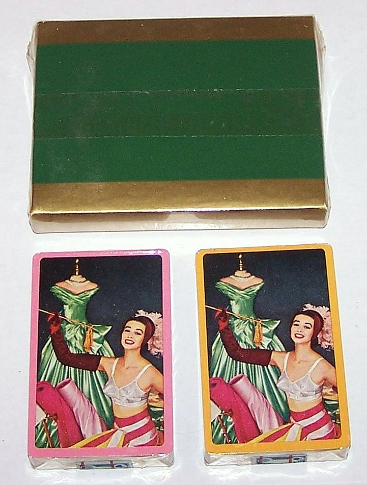 "Double Deck Arrco Pin-Up/Glamour Playing Cards, Maidenform ""I Dreamed"" Advertising Campaign (""Designing Woman""), c.1955"