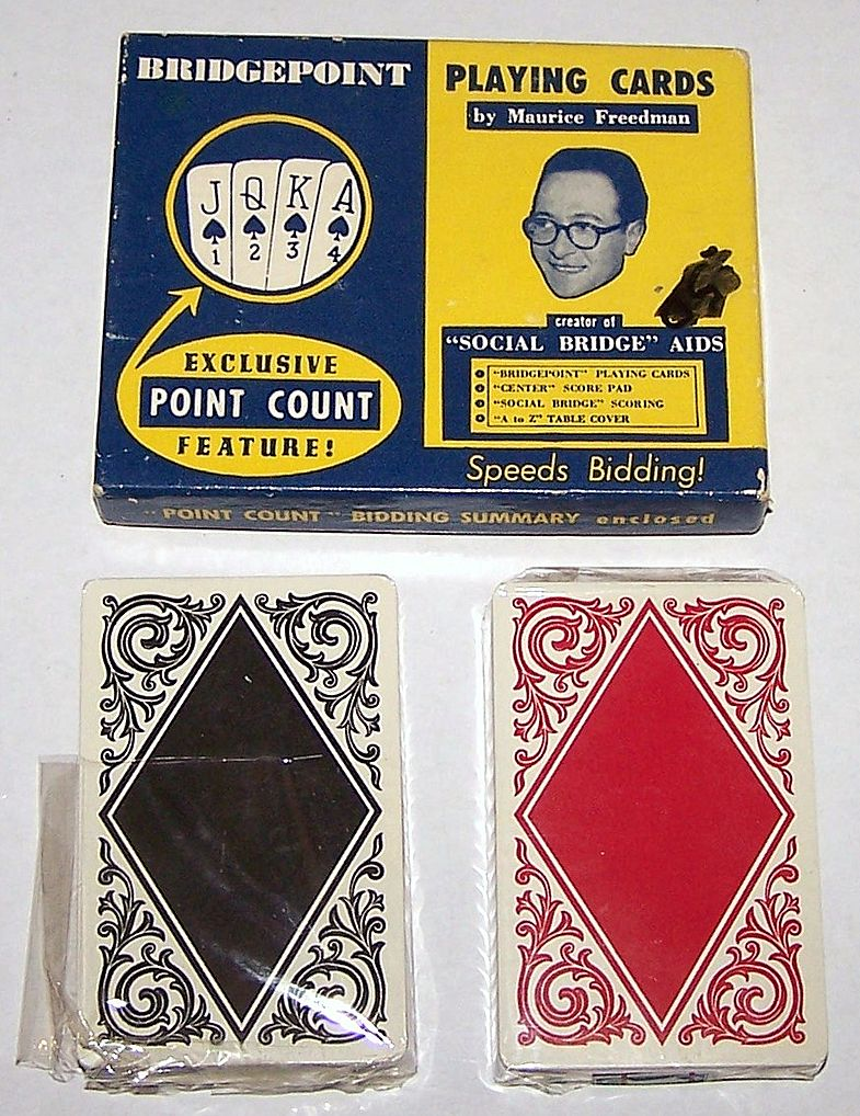 "Double Deck Arrco ""Bridgepoint"" Playing Cards, Bridgepoint Playing Card Co. Publisher, c.1945"