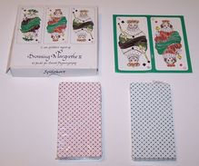 "Double Deck ""Dronning Margrethe II"" Playing Cards, Queen Margrethe II Designs, Hans Christian Andersen ""Shepherdess and Chimneysweeper,"" c.1994"