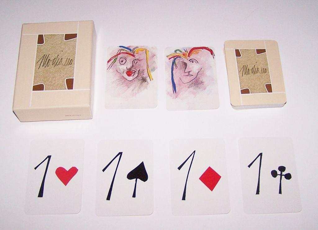 "Modiano ""Tadini"" Playing Cards, Emilio Tadini Designs, Ltd. Edition (___/1000), c. 1982"