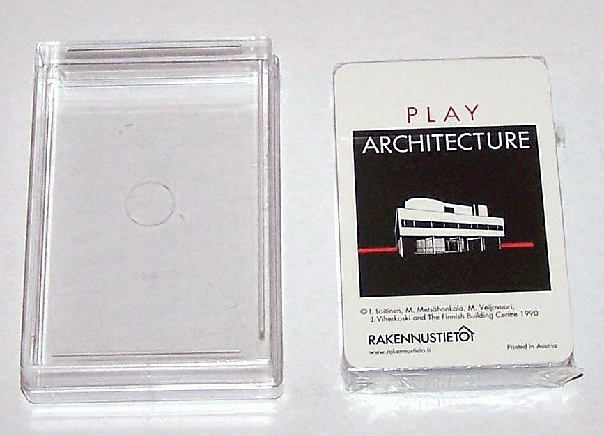 "Piatnik ""Play Architecture"" Playing Cards, Finnish Building Center (Rakennustieto) Publisher, c.1990"