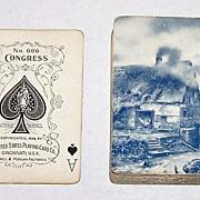 "USPC Congress 606 ""Mill Water Wheel"" Playing Cards (52/52, NJ, No Box), Russell & Morgan, c.1899"