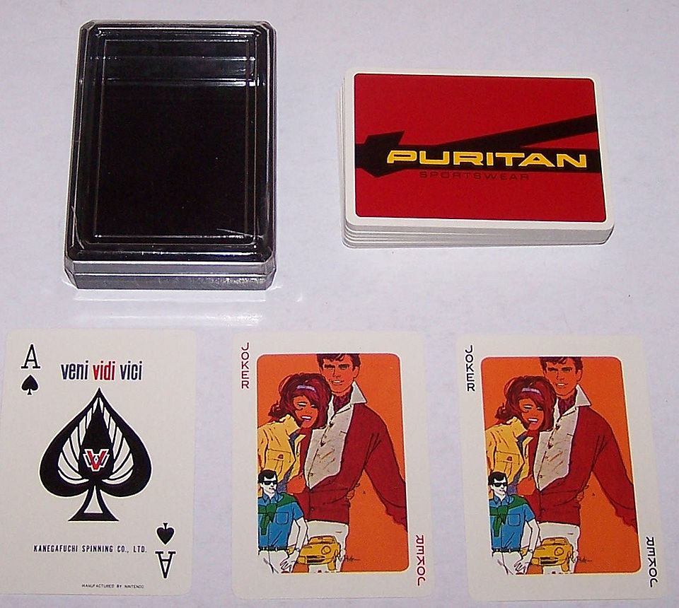 "Nintendo ""Puritan Sportswear"" Playing Cards, Bob Peak Designs, c.1960s"