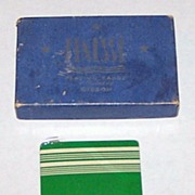 "Gibson ""Finesse"" Playing Cards w/ ""Gibson Slims"" Ace of Spades, c.1930s"
