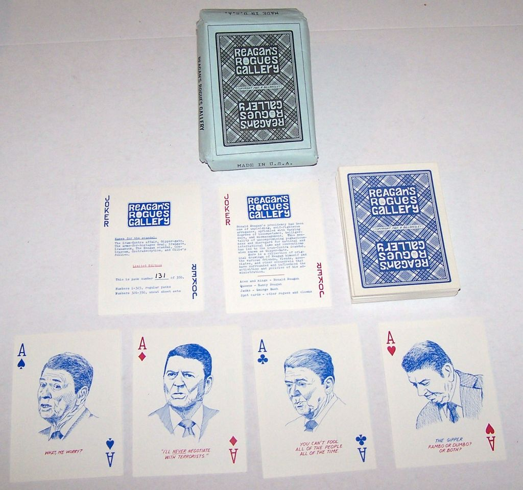 "R. Billingsley ""Reagan's Rogues Gallery"" Playing Cards, Ltd. Ed. (236/350), c.1987"