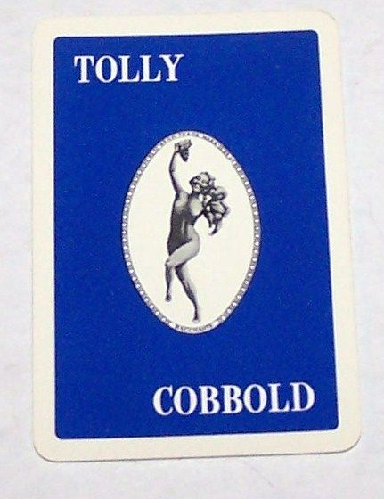 "Universal Playing Card Co. (""Alf Cooke"") ""Tolly Cobbold"" Pin-Up Playing Cards, Adv. Tollemache and Cobbold Breweries, Ltd., Frederick MacMonnies ""Bacchante and Infant Faun"" Sculpture (Backs), c.1960"