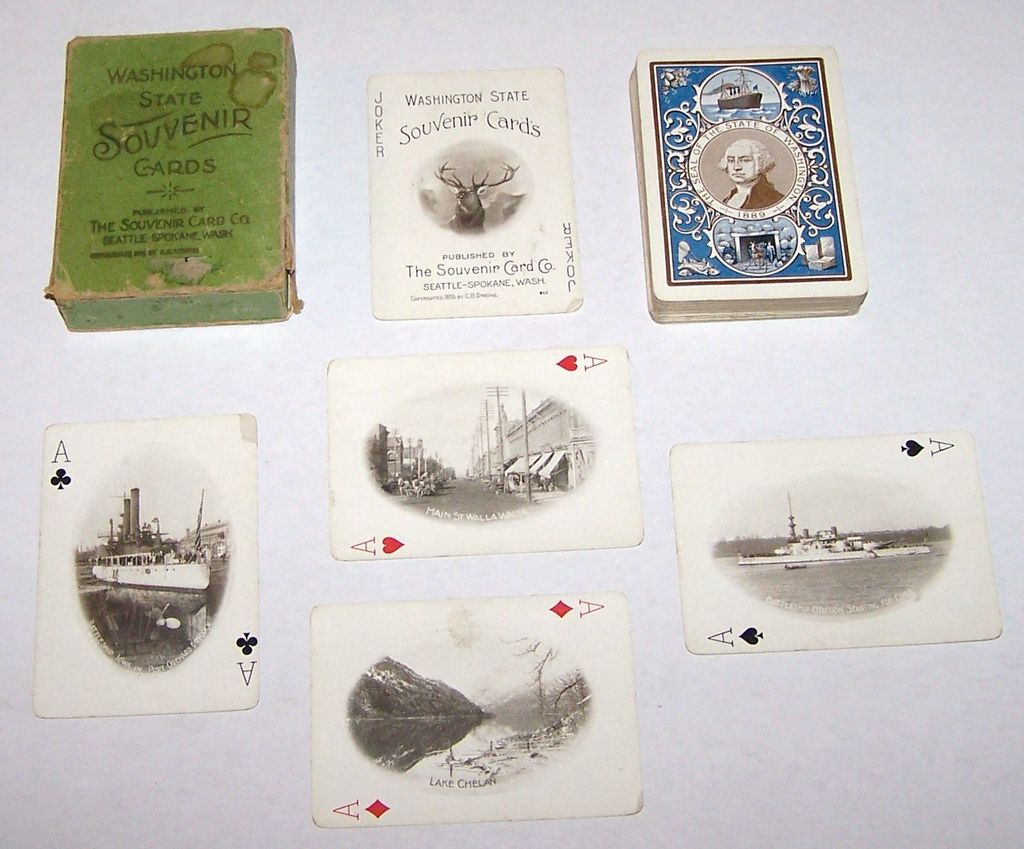"The Souvenir Card Co. ""Washington State Souvenir Cards,"" C.B. Strong Copyright, c.1899"