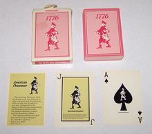 """American Drummer Playing Card Co. """"American Drummer"""" Playing Cards, Roy Lipstreu Designs, c.1976"""