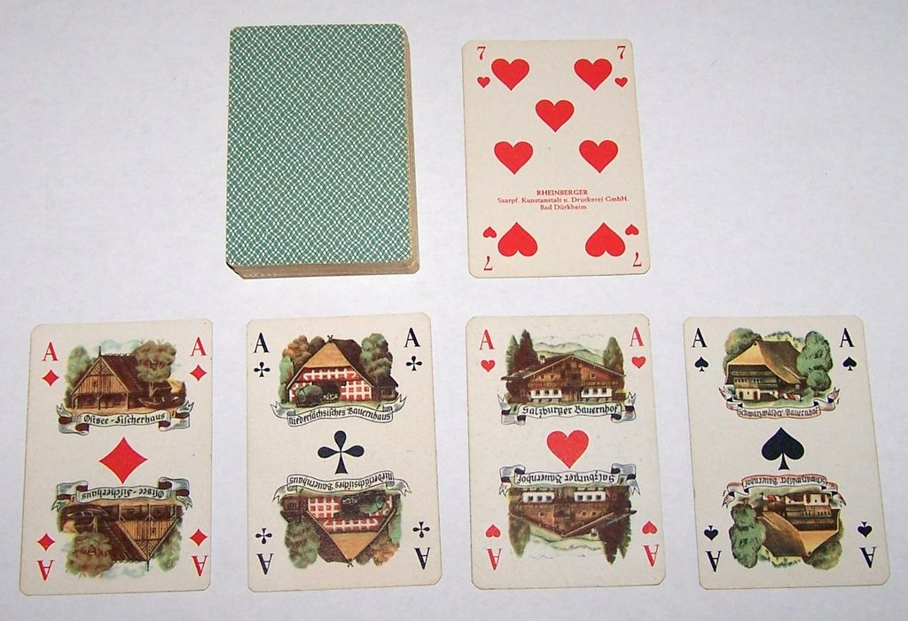 "Rheinberger ""German Costumes"" Skat Playing Cards, c.1939"