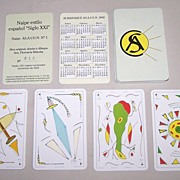 "AS.A.CO.N. (Argentina) Playing Cards, ""Siglo XXI"", Ltd. Ed. (019/250) Marotta Designs"
