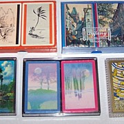 "5 Double Decks Various Playing Cards: (i) Brown & Bigelow (""Archer""), c.1940-1965; (ii) Arrco (""Tiffany""); (iii) Hoyle (""Trump""), Paul Detlefsen Designs; (iv) Hoyle; and (v) Brown & Bigelow (""Stancraft – Elegante"")"