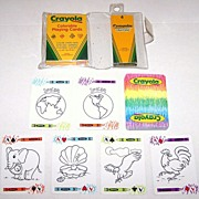"USPC ""Crayola Colorable Playing Cards"" Playing Cards, w/ Crayola Crayons"