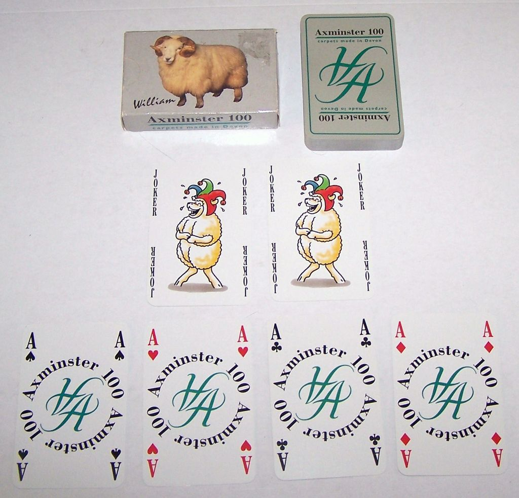 "Axminster Carpets, Ltd. ""Axminster 100"" Playing Cards, Maker Unknown, ""William and Mary"" Sheep"