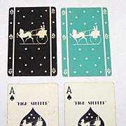 "Double Deck Gibson ""Hi-Stepper"" Playing Cards for B.F. Dewees, Philadelphia (each 52/52, NJ), c.1930"