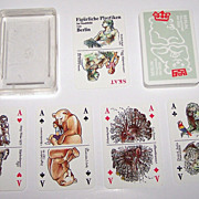 "Coeur ""Figürliche Plastiken"" (""Figured Sculptures"") Skat Playing Cards, Marianne Maeder Designs, c.1986"