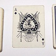 Double Deck American Playing Card Company (Kalamazoo) Playing Cards (52/52, No Jokers), Brand Uncertain, c.1890s