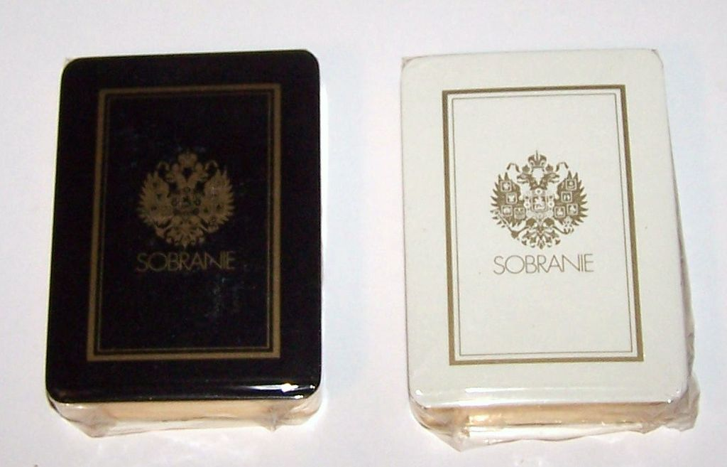 "Twin Decks ""Erte"" Playing Cards (Cards Only) -- $75 each, $150 for pair; Sobranie of London, Carta Mundi, c.1983"