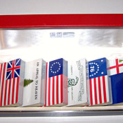 Bicentennial Playing Cards, Historic Flags, 6 Decks c.1976
