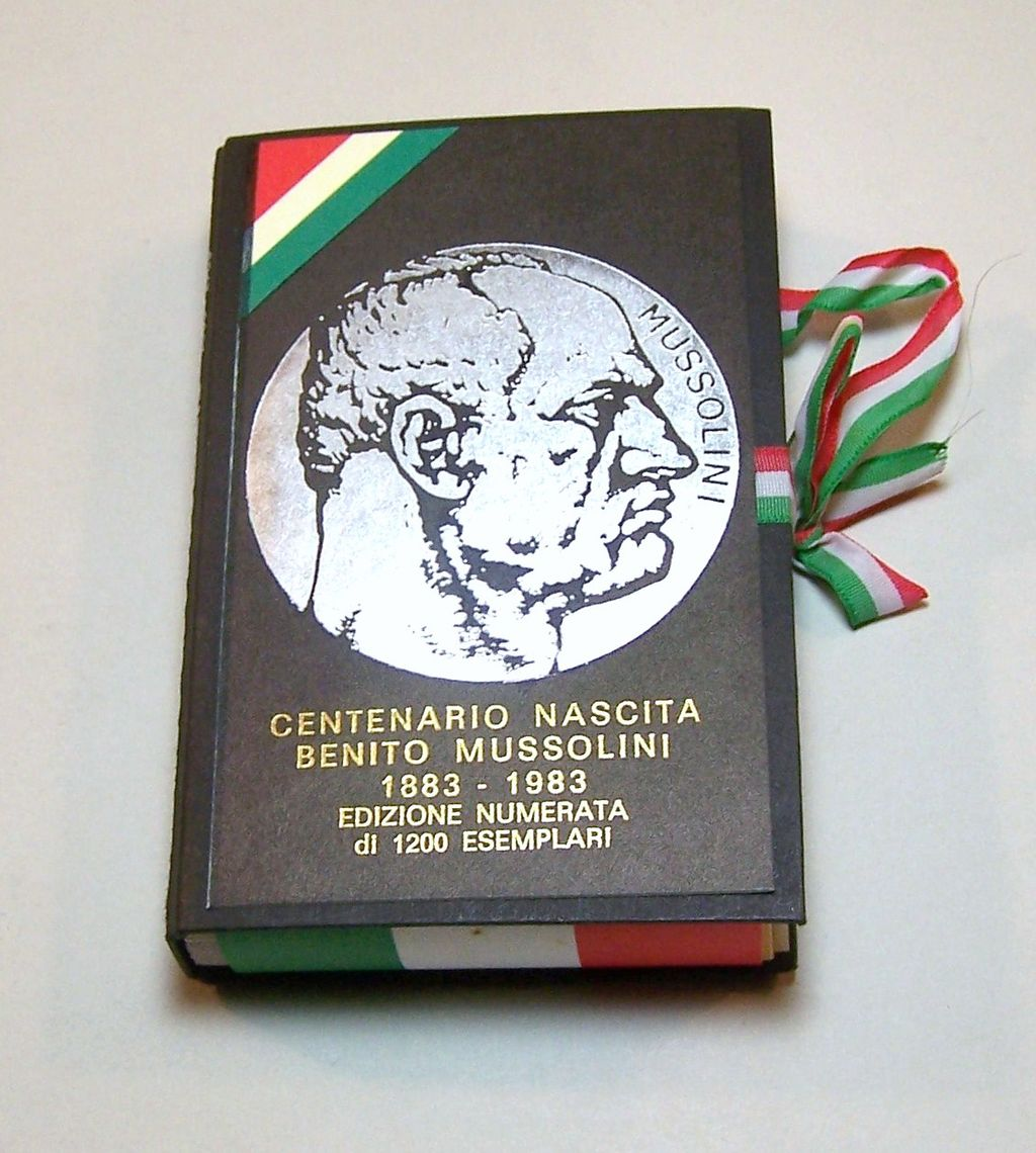"Il Meneghello ""Benito Mussolini"" Playing Cards, Ltd. Ed. (372/1200), c.1983"