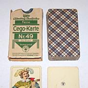 "ASS ""Cego-Karte Nr. 49"" (Wüst ""Encyclopedic Tarok"") Cego Cards, c.1938"