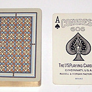 "USPC ""Congress 606 Bridge"" Playing Cards (52/52, NJ), Artistic Geometric Pattern, c.1926"