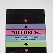 "Carta Mundi ""Artdeck"" Playing Cards, Aristoplay, Ltd., Harlin Quist Designs, c.1984"
