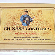 "Double Deck Fournier Playing Cards, ""Chinese Costumes,"" c.1984"