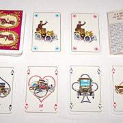 """KZWP """"Birth of Motorization"""" Playing Cards, Andrezej Radziejewski Designs, c.1985"""