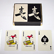 "Double Deck Osborne Kemper Thomas (USPC?) ""Donte's"" Playing Cards, ""Crown OKT"" Brand, Donte's Jazz Club, c.1973"