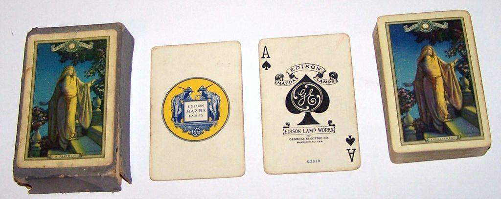 "USPC Edison Mazda ""Enchantment"" Playing Cards, Maxfield Parrish Design, c. 1926"