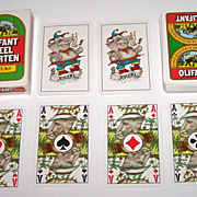 "Carta Mundi ""Olifant"" Playing Cards, Wenneker Distilleries, c.1980s"