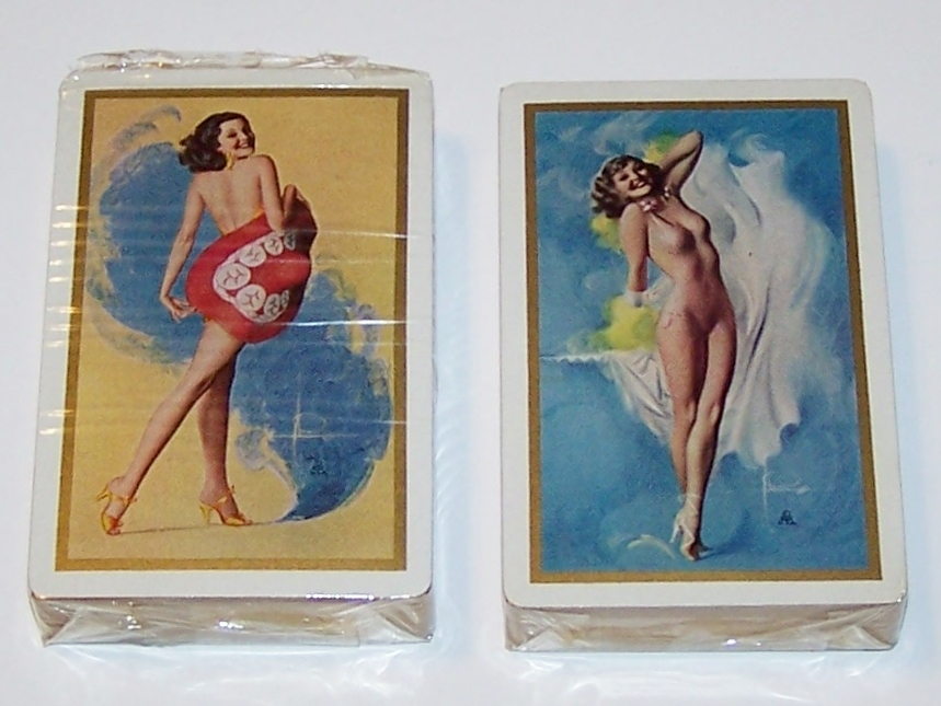 """Double Deck Brown & Bigelow """"Rolf Armstrong"""" Pin-Up Playing Cards, Rolf Armstrong Designs, c.1941"""