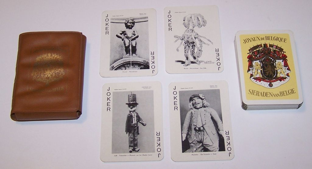 "Van Genechten ""Joyaux de Belgique"" (""Jewels of Belgium"") Souvenir Playing Cards, c.1958"