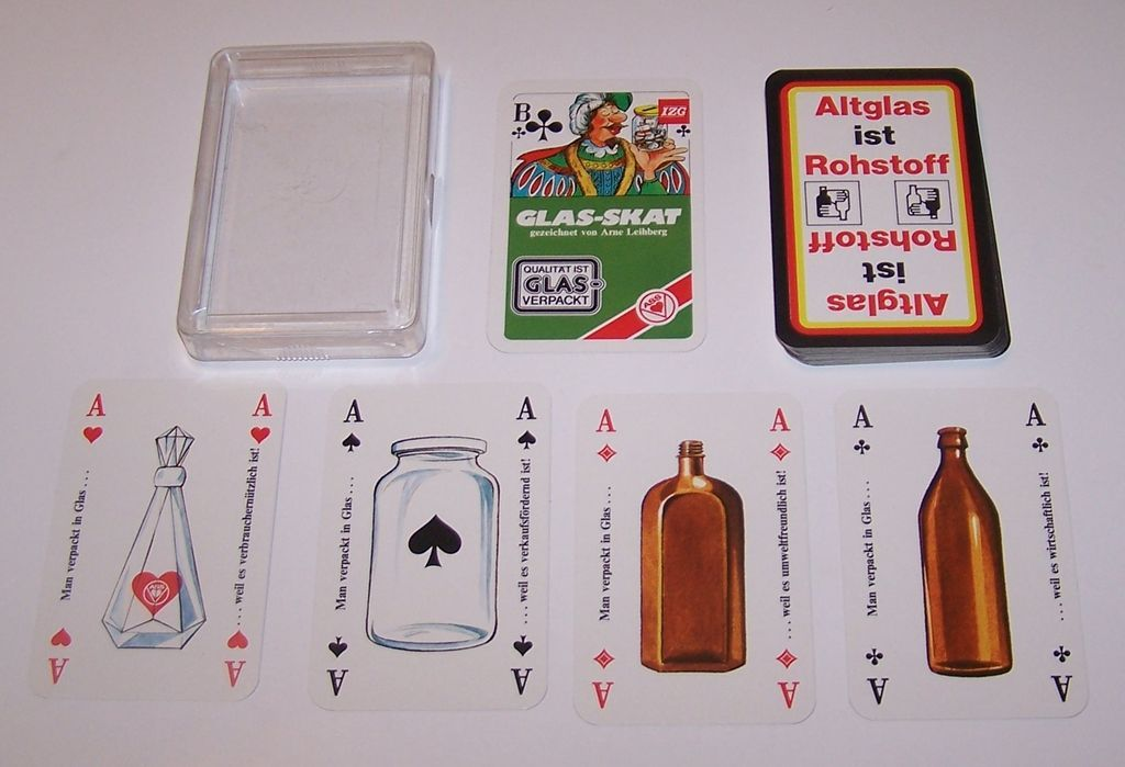 "ASS ""Glas-Skat"" Skat Playing Cards, Arne Leihberg Designs, c.1975"