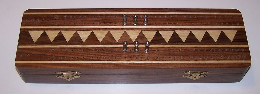 Hardwood Cribbage Box w/ Cards (Stancraft)