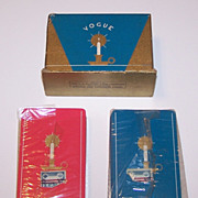"Double Deck USPC ""Vogue"" Playing Cards, Art Deco Candlestick Backs, c.1936"