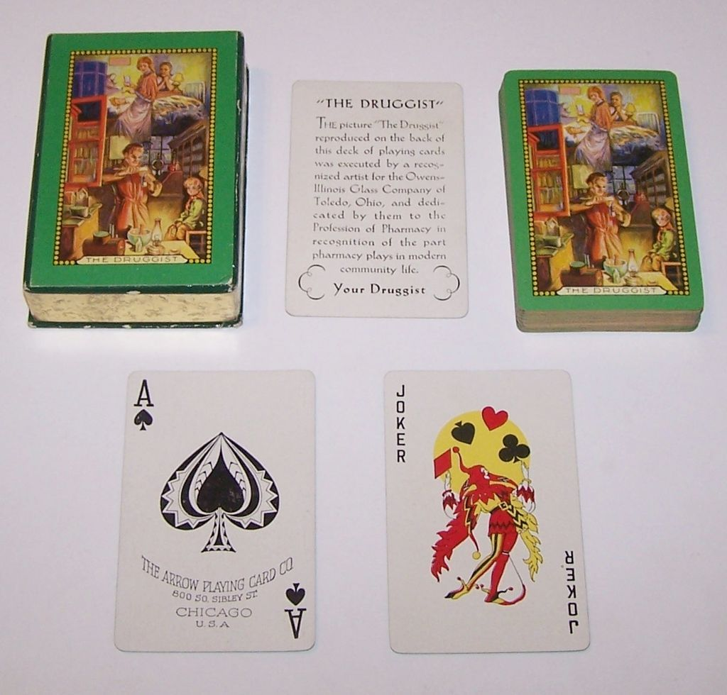 """Arrow """"The Druggist"""" Playing Cards, c.1930"""