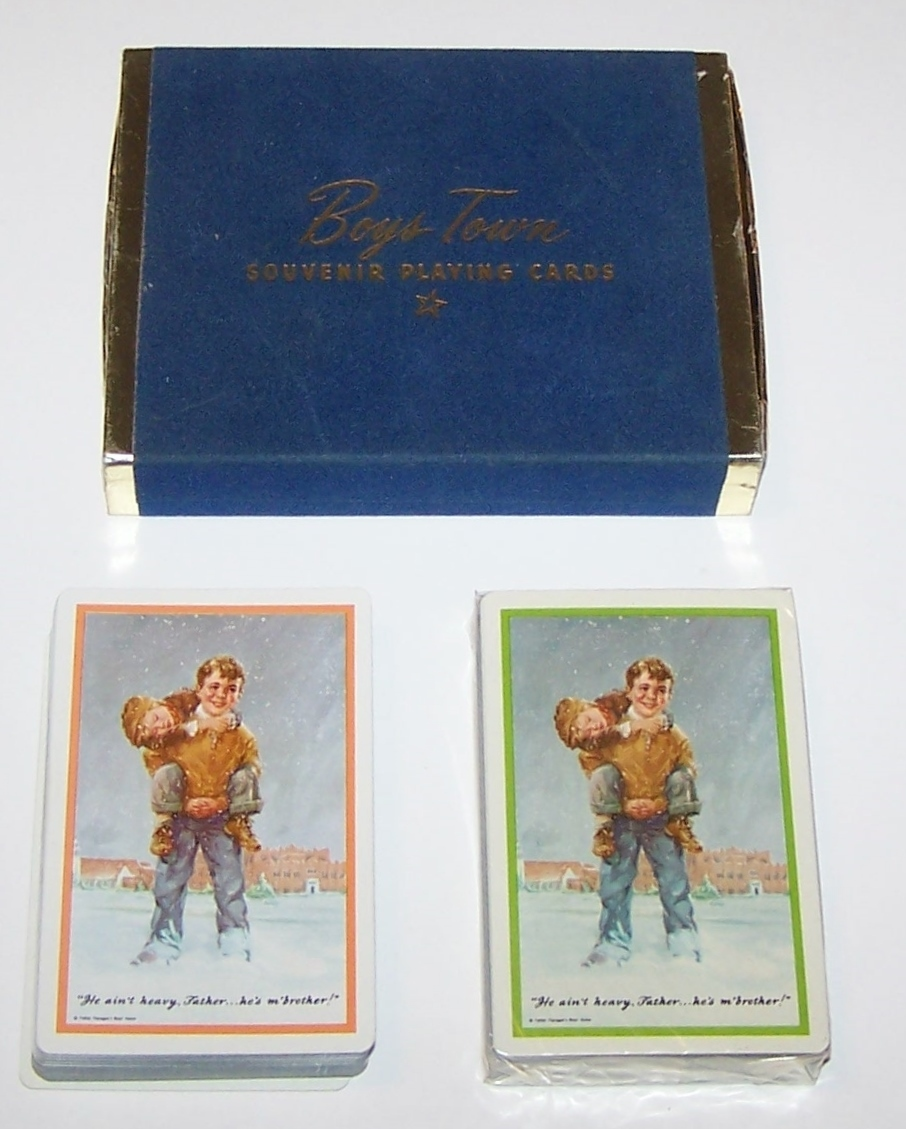 "Double Deck Brown & Bigelow ""Boys Town"" Playing Cards, c.1950s"